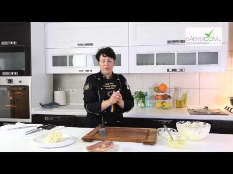 Salata de telina cu piept de rata afumat